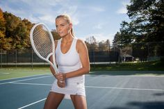 Look Wimbledon ready in Yaffa's Country Club Whites Tennis Whites, Wimbledon, Workout Gear, Tennis Racket, Active Wear, Fitness, How To Wear, Clothes, Magazine
