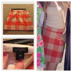 Super cute Jcrew skirt Super cute and stylish! Perfect condition! Make an offer! J. Crew Skirts