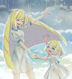 Lusamine and Lillie are Singing in the Rain