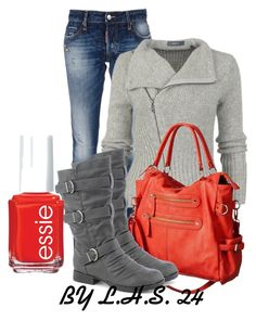 """""""Untitled #2703"""" by lilhotstuff24 ❤ liked on Polyvore featuring moda, Dsquared2, Moda Luxe y Essie"""