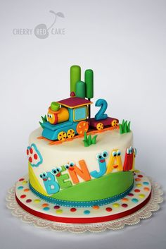 Train Cakes For Birthdays Bob The Train Cake Cherry Red Cake Novelty Birthday Cakes, 2 Birthday Cake, Novelty Cakes, Birthday Cakes For Kids, Baby Boy Cakes, Cakes For Boys, Fondant Cakes, Cupcake Cakes, Thomas Cakes