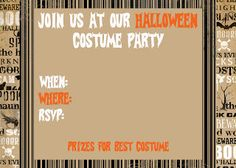 Secrets of a Modern Mama: {Free} Printable Halloween Invitations