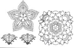 flowers and leaves crochet patterns | make handmade, crochet, craft  #Russian #knitting #DIY #creative #crochet #lace #tradition