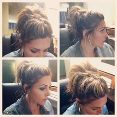 More angles of the hair. French braid top and bun. Two pony tail holders and Big Sexy Hairspray. - @mamalaughlin- #webstagram