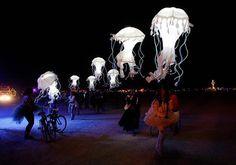 Flying jellyfish. :'). #burningman #art