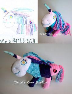 Child's Own Studio :: artist, Wendy Tsao, creates a precious keepsake softie of your child's artwork!