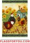 Chicken Coop Garden Flag