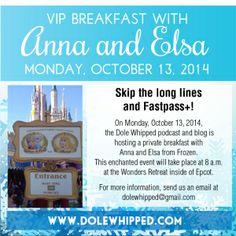 Breakfast at Disney with Anna and Elsa, no lines. VIP event. #Frozen #characterdining #WaltDisneyWorld
