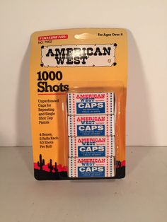Vintage Package of American West Roll Caps by Tootsietoy