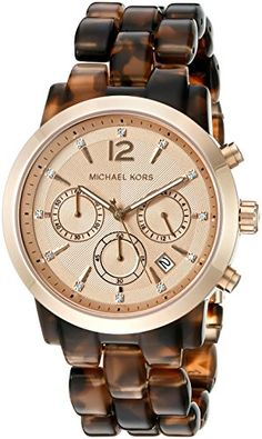 Michael Kors Watches : Michael Kors Womens Audrina Brown Watch >>> More info could be found at the image url. - Watches Topia - Watches: Best Lists, Trends & the Latest Styles Michael Kors Jewelry, Michael Kors Rose Gold, Michael Kors Watch, Rose Gold Watches, Seiko Watches, Chronograph, Watches For Men, Wrist Watches, Accessories