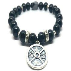 Black Agate Strength Fitness Power Bracelet- 8 mm