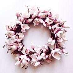 Artificial Magnolia Wreath