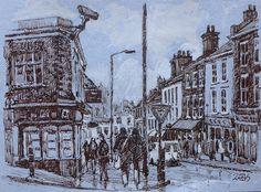 Rob Adams, Sketches, Urban, Ink, Illustrations, Painting, Drawings, Painting Art, Sketch