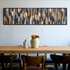 Sea Crest Reclaimed Wood Wall Art Above Table