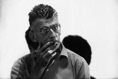 Samuel Beckett during the rehearsal of Waiting For Godot. USA. New York City. 1964.