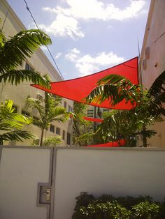 Loved this bit of color and help for shade between buildings in North Beach Village on Fort Lauderdale Beach after the Mod Weekend bus tour. #Mod Weekend, #Fort Lauderdale