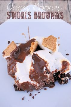 Ooey Gooey, Quick and Easy S'mores Brownies by Crazy Little Projects. These are a crowd pleaser every time!