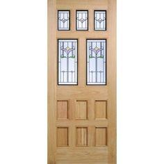KNIGHTSBRIDGE OAK TULIP BEV EXTERNAL DOOR (NICE)