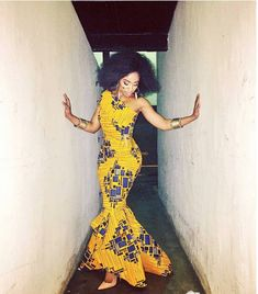classy-ankara-styles-nigerian-wedding-mono-strap-hi-lo-fish-tail-long-dress