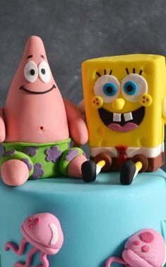 spongebob birthday cake close up 2