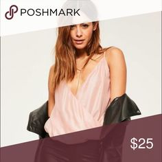Missguided pink shimmery top size 2 Brand new size 2 I would say it fits like a small. No trades Missguided Tops Tank Tops