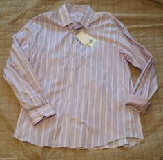 Bugatchi Uomo men dress #shirt 3XL shaped fit (fitted) LAVENDER color pattern visit our ebay store at  http://stores.ebay.com/esquirestore