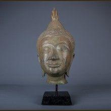 Mounted Buddha Head - 37cm