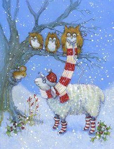 Christmas (all) « Jan Pashley – Illustration / Design Merry Little Christmas, Christmas Animals, A Christmas Story, Christmas Pictures, Christmas Art, Winter Christmas, Vintage Christmas, Illustration Noel, Christmas Illustration