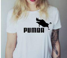 PUMBA Tshirt  Fashion grappige slogan womens meisjes sassy