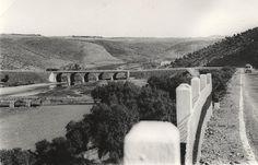 Las carreteras de Extremadura: El paso del río Almonte de la N-V. Años sesenta.