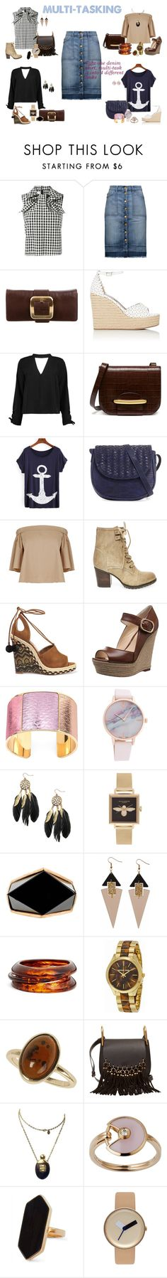 """Multi-Tasking"" by glizzard on Polyvore featuring Marques'Almeida, Current/Elliott, Michael Kors, Tabitha Simmons, Boohoo, Mulberry, Neiman Marcus, TIBI, Steve Madden and Aquazzura"