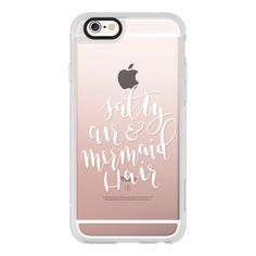 Salty Air Mermaid Hair White Transparent - iPhone 6s Case,iPhone 6... ($40) ❤ liked on Polyvore featuring accessories, tech accessories, iphone case, iphone cover case, iphone hard case, white iphone case, clear iphone cases and apple iphone cases