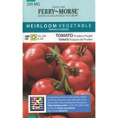 Ferry-Morse Tomato Prudens Purple Vegetable Seed Packet