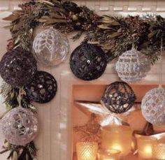 Вязаные шары для новогодней елки – схемы вязания