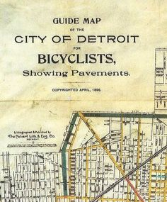 Detroit grand bicycle map from 1896