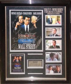 Wall Street Cast Signed Large Photo