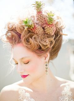 Pineapples in her hair!!! | Connie Dai Photography