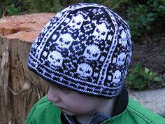 This skull hat is great for any person who loves metal music or punk style. Check out the knit pattern on Ravelry.
