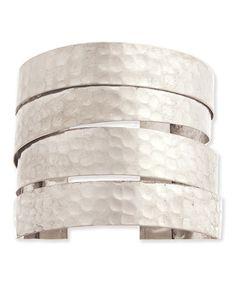 Look what I found on #zulily! Silvertone Hammered Layered Cuff #zulilyfinds