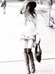 Vanessa Paradis | Ellen Von Unwerth #photography | #bohemian #boho #hippie #gypsy