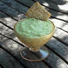 Cool-as-a-Cucumber Avocado Dip Allrecipes.com: Cucumber, Avocado, Onion, Green Bell Pepper, Mint, Plain Greek Yogurt, Olive OIl, Lemon Juice, Garlic, Salt and Pepper