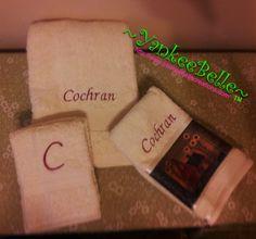 Monogrammed Bathroom Towels