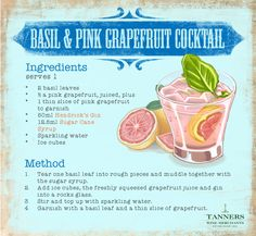 Combine refreshing @HendricksGin with tangy pink grapefruit and create this beautiful #summer cocktail! #Free #Printable #Recipe