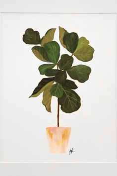 The National Stationery Show: House Plants | Design*Sponge - This beautiful print by Our Heiday is perfect if you don't have the light or time to care for a fiddle leaf fig tree.