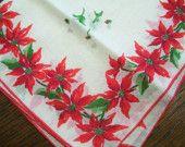 Christmas handkerchief - great retro look!