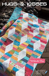 Who doesn't want to make a quilt named hugs and kisses???