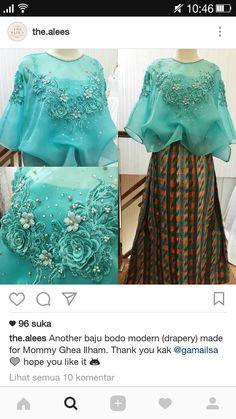 Kebaya Lace, Kebaya Dress, Dress Pesta, Batik Fashion, Hijab Fashion, Modern Kebaya, Blouse Batik, Formal Looks, Apparel Design