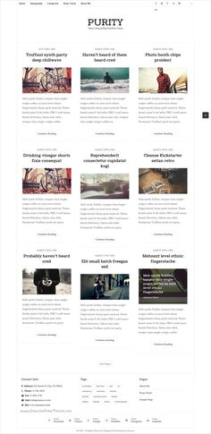 Purity is a Clean & Minimal #Blogging #WordPress #Theme for personal blogs with simple creative features download now➩ https://themeforest.net/item/purity-clean-minimal-blog-wordpress-theme/16010672?ref=Datasata