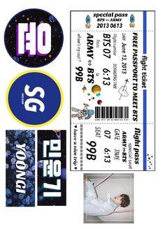Pop Stickers, Printable Stickers, Bts Tickets, Music Journal, Kpop Diy, Ticket Design, Diy Case, Bts Book, Bts Lyric