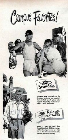 The coach knows what's up. | The 7 Most (Unintentionally) Homoerotic Vintage Underwear Ads